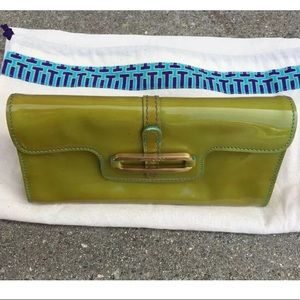 Jimmy Choo Mini Tulita Clutch Green Patent Leather